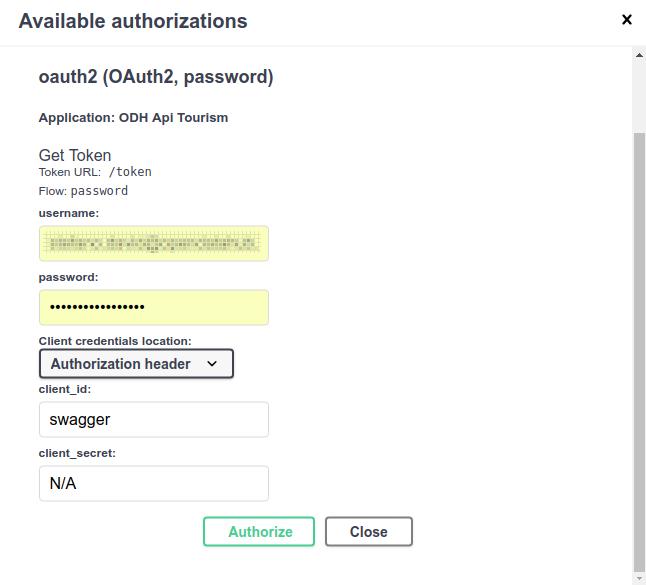 Tourism API Howto — OpenDataHub Docs Repo